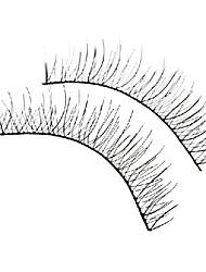 Natural Looking Black False Eyelashes (10 Pair)
