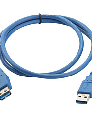 USB 3.0 A-A Male to Female Extension Cable (1m, Blue)