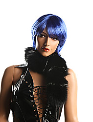 Capless Synthetic Short Blue Party Wigs