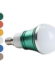 E14 W 3 High Power LED 270 LM Natural White A Globe Bulbs AC 85-265 V