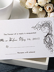 Personalize Wedding Response Cards - Classic Designed (Set of 50)