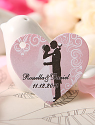 Personalized Heart Shaped Favor Tag - Wedding Kiss (Set of 60)