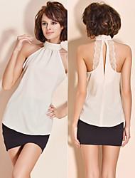 halter ts camisa blusa de renda