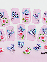 Embossed Flowers Nail Sticker(3 pcs)