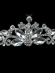 Silver Alloy Rhinestone And Pearl Shimmering Bridal Tiara