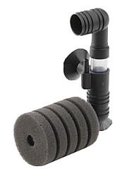 baixo nível de ruído aquário de água filtro de esponja dupla (12 centímetros x 9 centímetros x 4cm)
