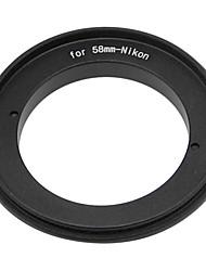 58mm Reverse Ring for Nikon DSLR Cameras