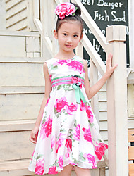 Ruffle and Flower Dress