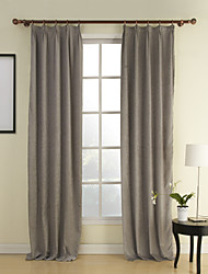(One Panel) Solid Modern Cotton Chenille/Rayon Energy Saving Curtain