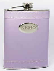 Personlized 8-oz Lilac Flask