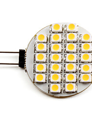 1W G4 Spot LED 24 SMD 3528 50 lm Blanc Chaud DC 12 V