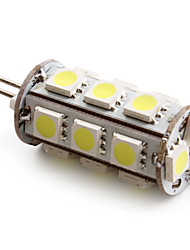 1.5W G4 Ampoules Maïs LED T 18 SMD 5050 110 lm Blanc Naturel DC 12 V