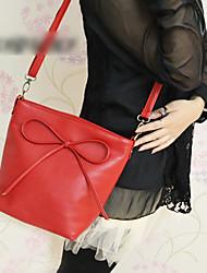 PU Bowknot Shoulder/Crossbody Bag(28.5cm*13cm*23cm)