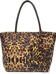 Леопард ткать ранец (40см * 13см * 30,5 см)