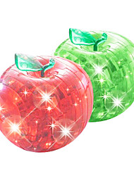 3d apple cristallo puzzle con flash (colori casuali)