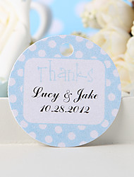 "Personalized Favor Tag - Blue ""Thanks"" (Set of 36)"