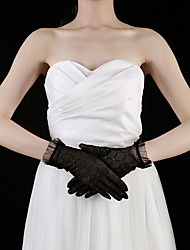 Wrist Length Fingertips Glove Lace Bridal Gloves/Party/ Evening Gloves
