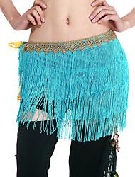 poliéster dancewear com borlas cinto de dança do ventre desempenho para senhoras mais cores