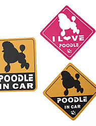 I Love My Poodle Dog Car Stickers (3-Pack)