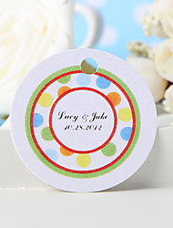 Personalized Favor Tag - The Colored Dots (Set of 36)
