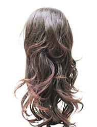 hight Qualität synthetischen braune 3/4 Kappe lockiges Haar Perücken