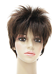 Capless High Quality Synthetic Fashion Short Straight Men's Wig