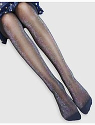 Shimmering Spandex Semi Opaque Tights