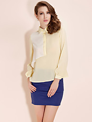 TS Color Block Structure Blouse Shirt