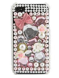 Bowknot Pattern Rhinestone Case for iPhone 4 and 4S