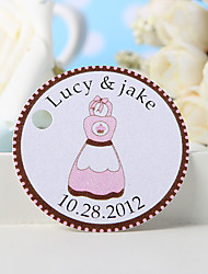 Personalized Favor Tag - Pink Apron (Set of 36)