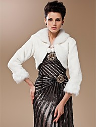 Long Sleeves Faux Fur Bridal Wedding Jacket/ Wrap