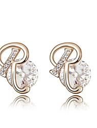 een hoge kwaliteit aluminium en kristal 18k goud bedekt met r oorbellen (meer kleuren)