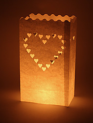 Wedding Décor Big Heart Shaped Cut-out Paper Luminary