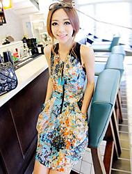 Cute Watercolor Chiffon Dress