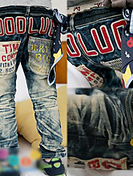 Children Thicken Washed Jeans Trousers