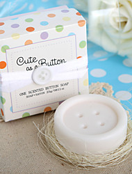 """Cute as a Button"" Button Soap Favor"