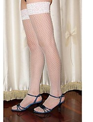 White Lace Sexy Transparent Net Stockings