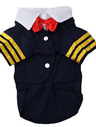 marinheiro blazer estilo para cães (xs-xl, azul)
