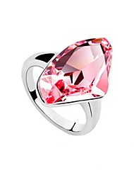 meravigliosa platinato moda anello di cristallo (altri colori)