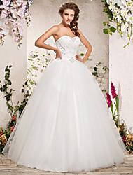 dégagement de bal sweetheart parole longueur robe de mariée en organza!