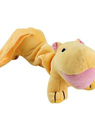 Chiens Jouets Jouets d'activité / Jouets sonores Hippopotame Textile Jaune