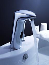 robinet d'évier en laiton salle de bain avec capteur automatique et pop up des déchets