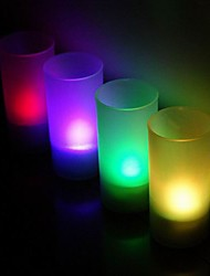 Wedding Décor Voice Controlled LED Cup   Favors (Set of 4 in Assorted Colors)