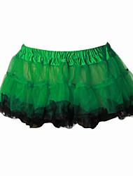Skirt Sweet Lolita Lolita Cosplay Lolita Dress Green / Yellow Solid Lolita Short Length Dress For Women Organza