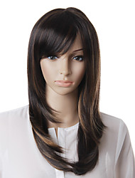 Capless High Quality Synthetic Brown Straight Hair Wig