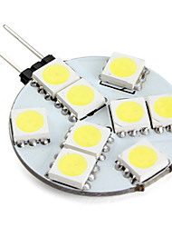 G4 2W 9 SMD 5050 100 LM Natural White LED Bi-pin Lights V