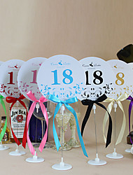 Place Cards and Holders Cute Round Shape Table Number Cards With Holders - Set Of 10(More Colors)
