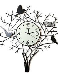 """26 """"pájaros de hierro reloj de pared"""