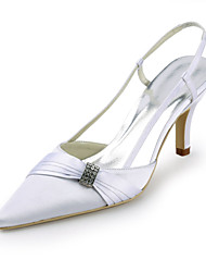 Women's Shoes Silk Stiletto Heel Heels / Pointed Toe Heels Wedding / Party & Evening / Dress White