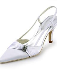 damesschoenen zijde stiletto hiel hielen / spitse neus hakken bruiloft / feest&avond / jurk wit